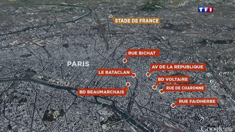 パリのテロ現場